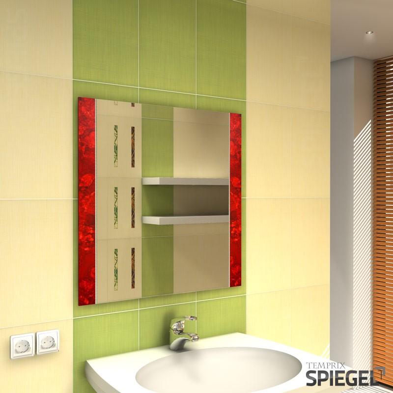wandspiegel mit rahmen flur spiegel modern rot badspiegel 70 x 70 cm ava one ebay. Black Bedroom Furniture Sets. Home Design Ideas