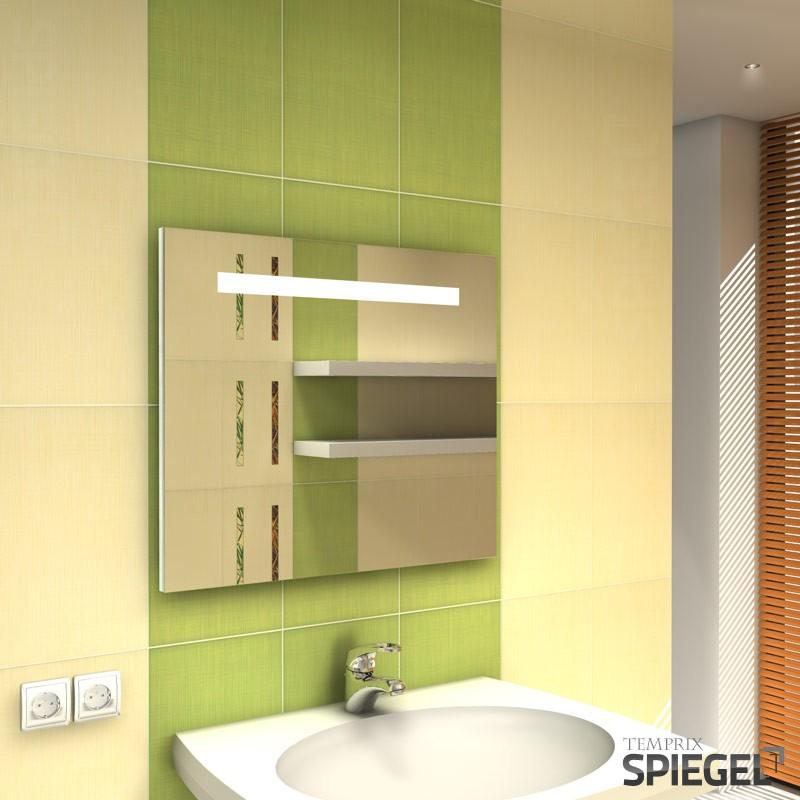 badspiegel beleuchtet badezimmerspiegel mit led beleuchtung fondo 60 x 70 cm ebay. Black Bedroom Furniture Sets. Home Design Ideas