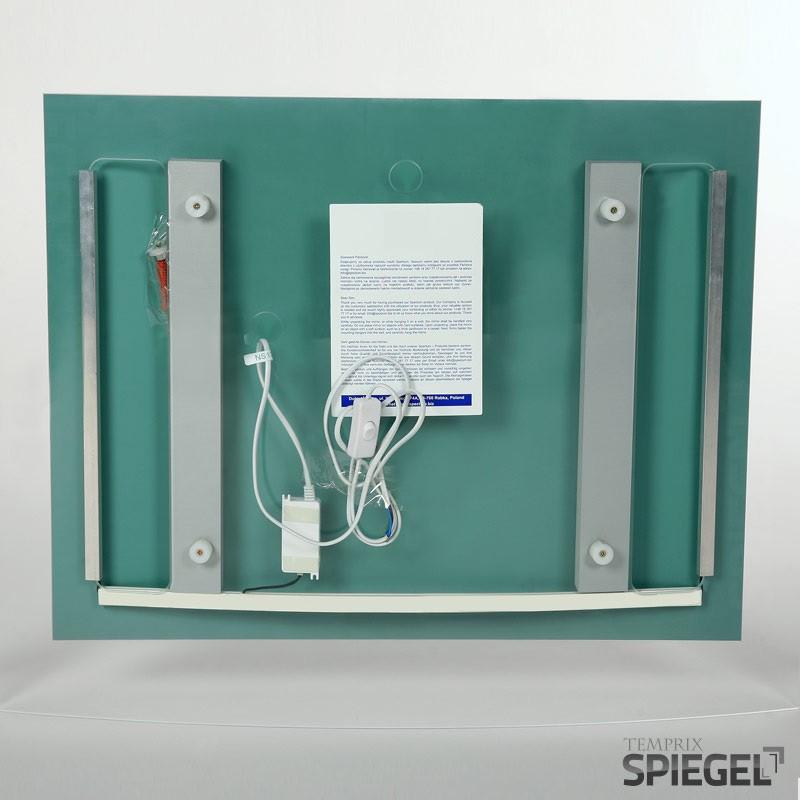 badspiegel mit beleuchtung badezimmer spiegel mit licht mister 70 x 98 cm ebay. Black Bedroom Furniture Sets. Home Design Ideas