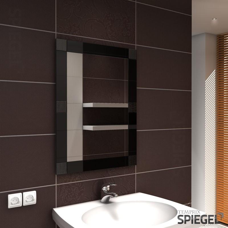 wandspiegel spiegel mit rahmen badspiegel 80 x 60 cm. Black Bedroom Furniture Sets. Home Design Ideas