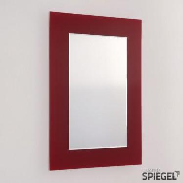 Wandspiegel Badspiegel Ferro rot Spiegel mit Rahmen bei Spiegelwerk online kaufen